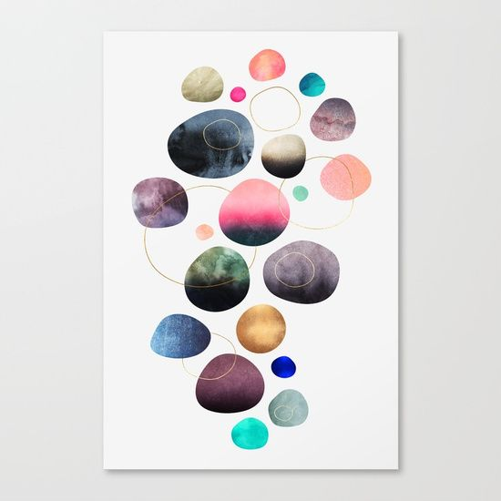 graphic, abstract, shapes, rocks, pebbles, colors