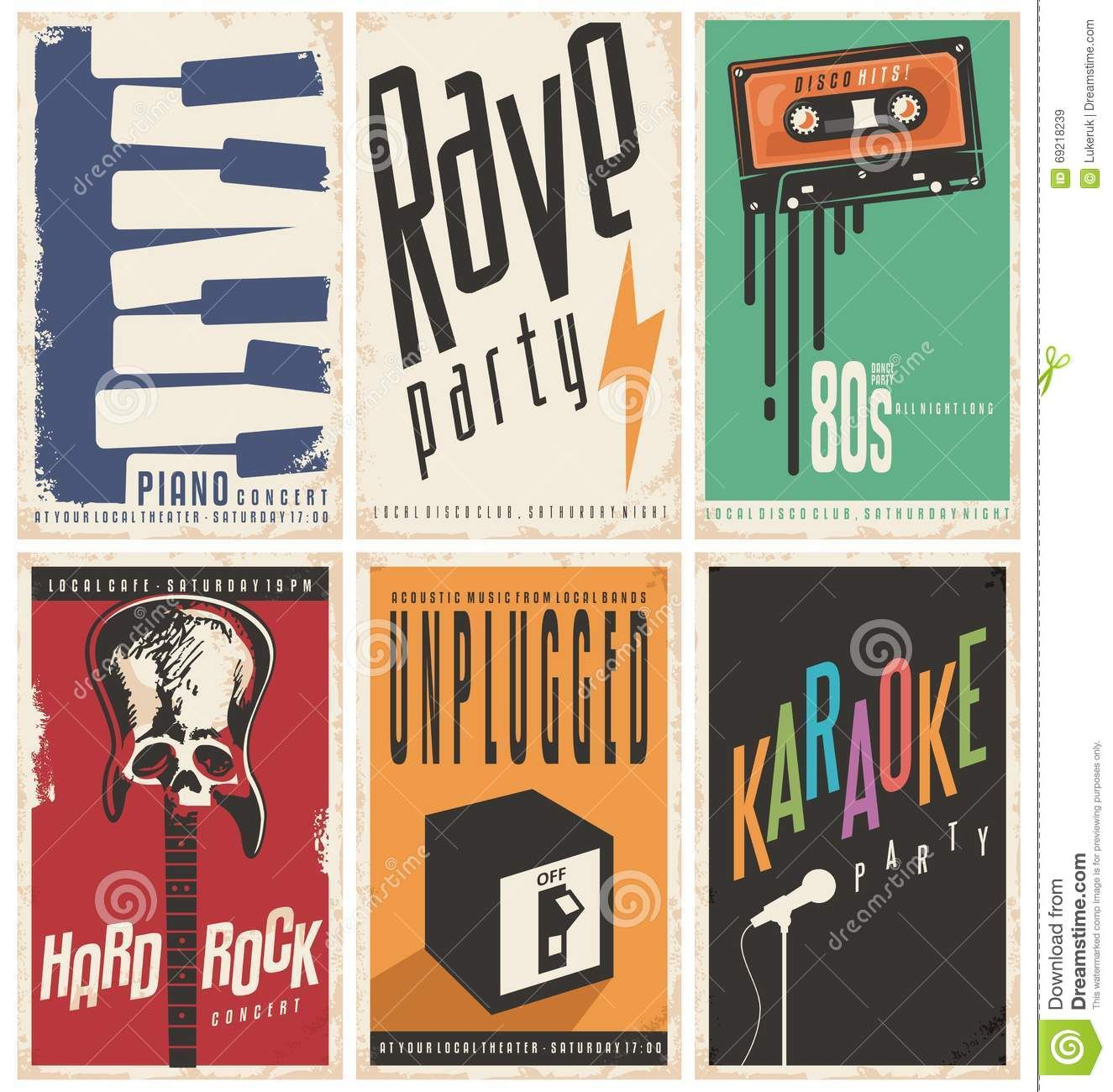 Retro Music Posters Collection Music Poster Retro Music Retro Graphics