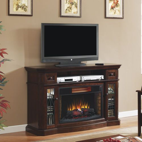 Twin Star Media Mantel Fireplace with Infrared Quartz Heater ...
