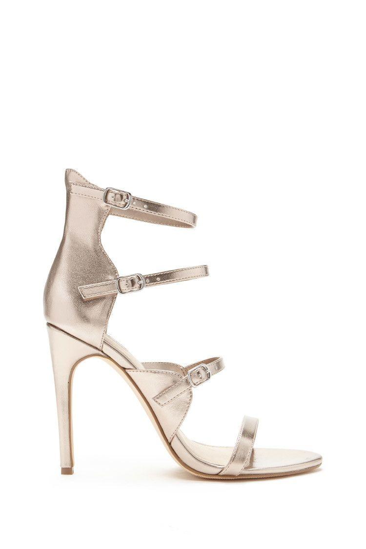 aba0bed8de873 Caged Metallic Heels