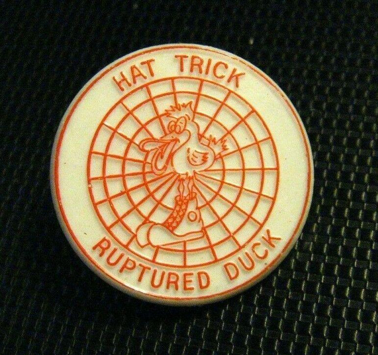 Hat Trick Ruptured Duck Lapel Pin Vintage Archery Target Bow Arrow Badge Pin Lapel Pins Bow Arrows Archery Target
