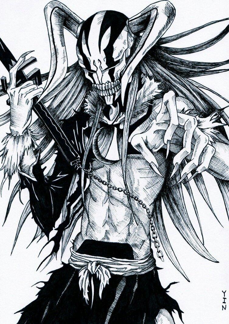 Ichigo Hollow - Bleach | ANIME !!!! | Pinterest | Manga, Fondos y Dibujo