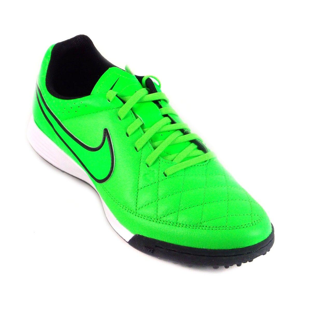 Chuteira Nike Society Tiempo Genio Leather TF Casual Masculino Verde Branco Para a prática de atividades físicas, você encontra naPasso a Passo Onlinemodelos que v&atil