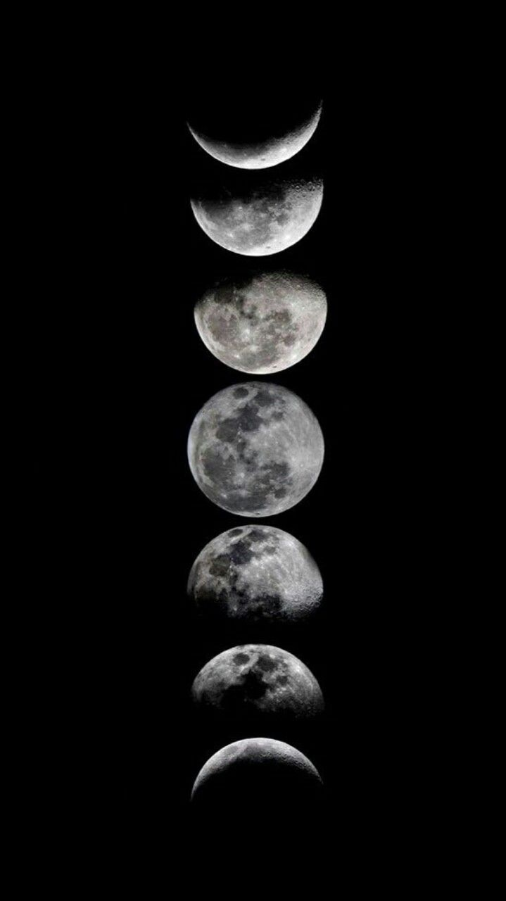 Moon Space Black Wallpaper Moon Art Print Moon Art Moon Phases