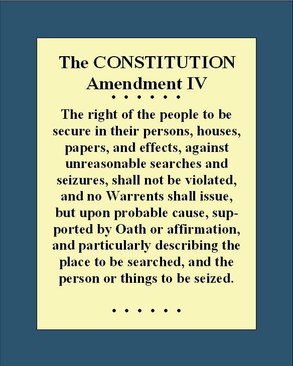 009 Bill of Rights_4th Amendment Constitution bill of rights