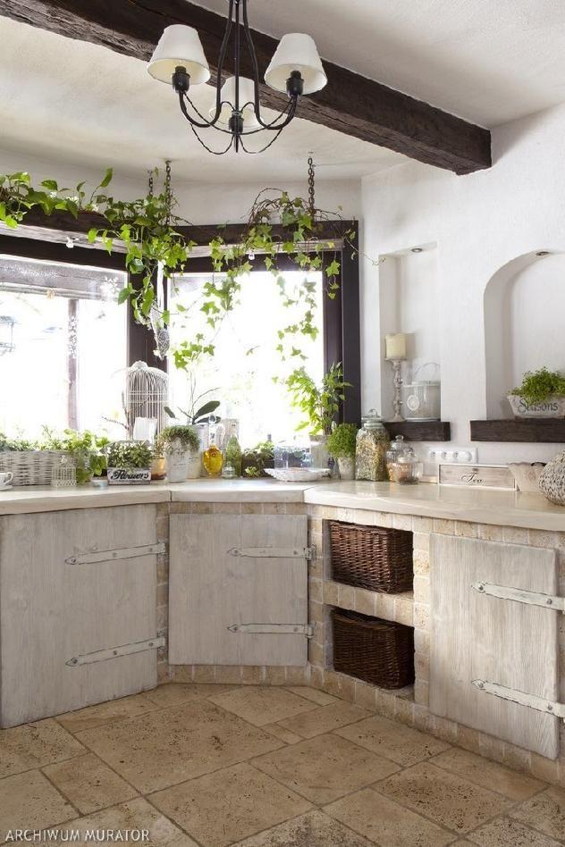 rustykalna kuchnia 4  Rustikální interiéry  Pinterest   -> Kuchnia Retro Jasna