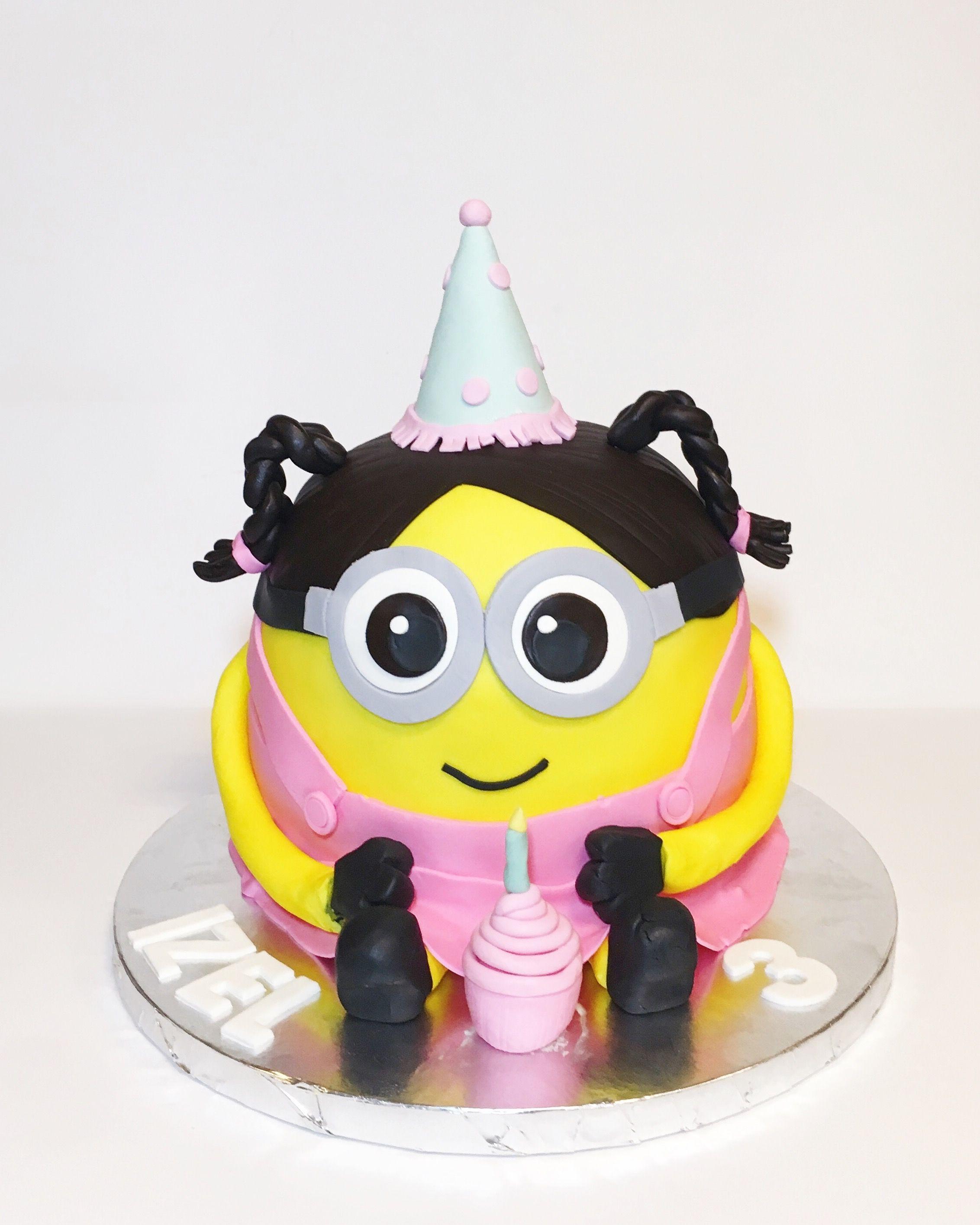 Girl Minion Cake Sweet Tweets Bakeshop Pinterest Girl Minion
