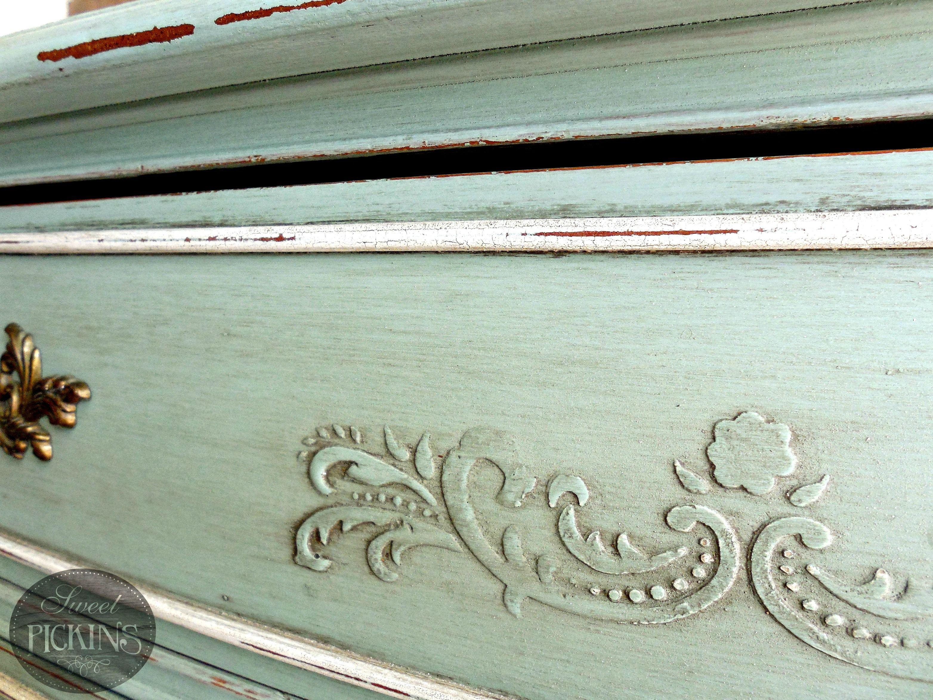 Sweet Pickins Raised Stencil Tutorial. Kids Painted FurnitureStenciling ...