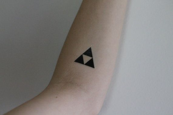 Triforce Temporary Tattoo By Mossandferndesignco On Etsy