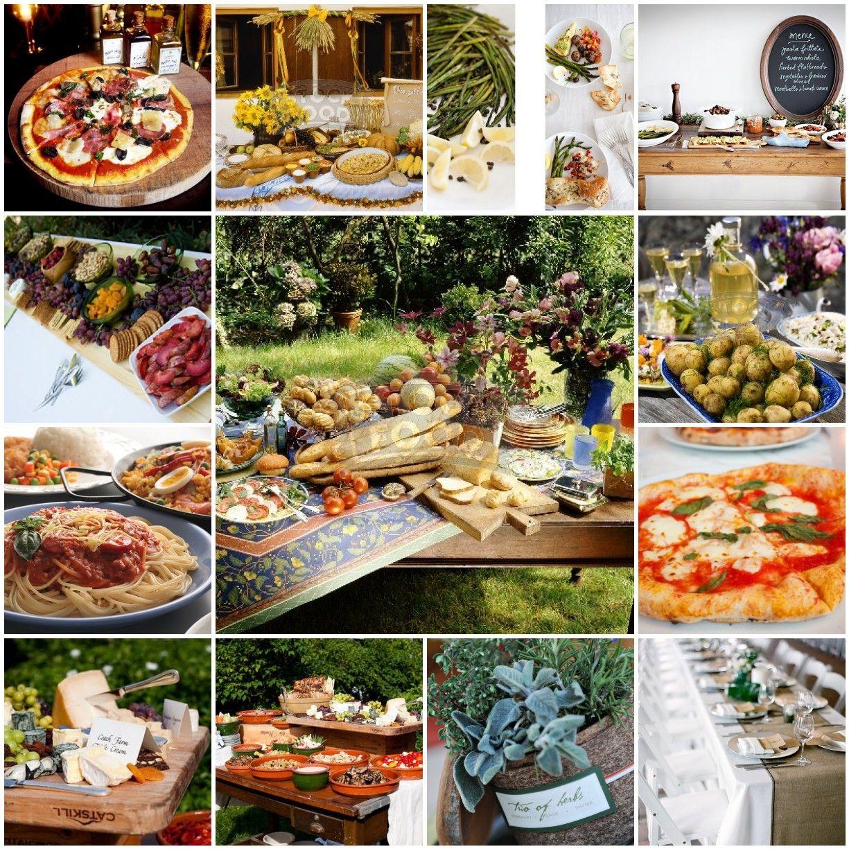 Rustic Barn Wedding Food Ideas: Rustic Italian Buffet Mood BOard
