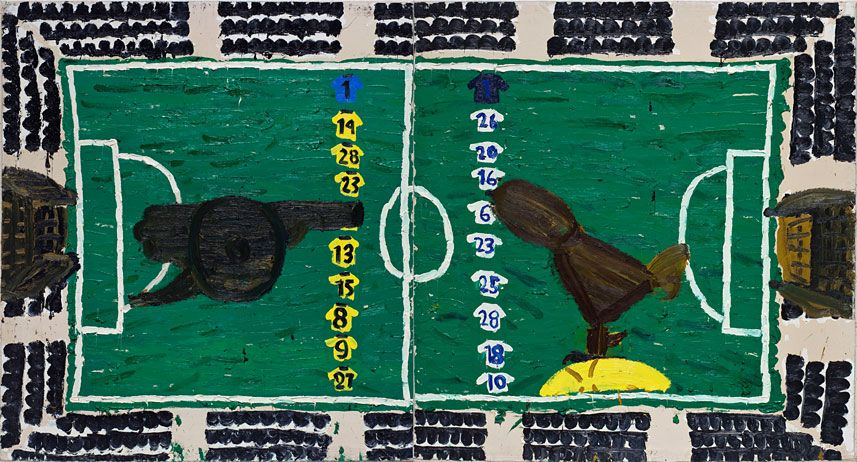 """Arsenal & Spurs"" by Rose Wylie (2006)"
