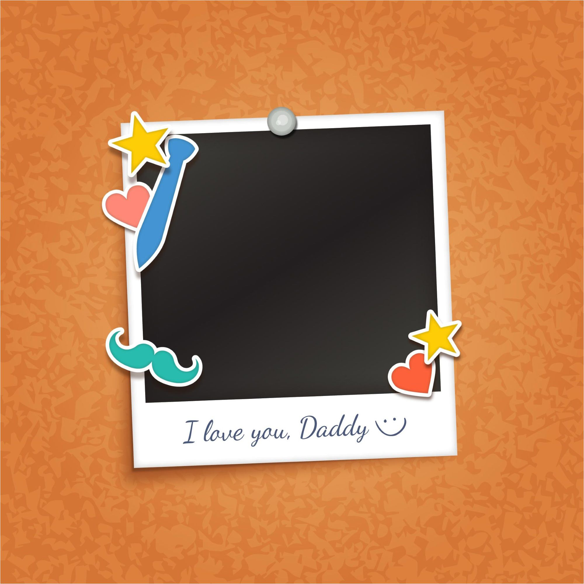 Happy Fathers Day Frame Photo Vector Background | Happy Father\'s Day ...