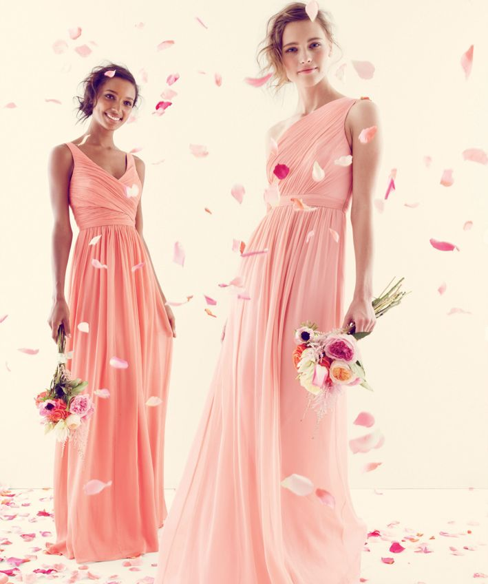 J.Crew bridesmaids dresses in peachy tones | Bridesmaid | Pinterest ...