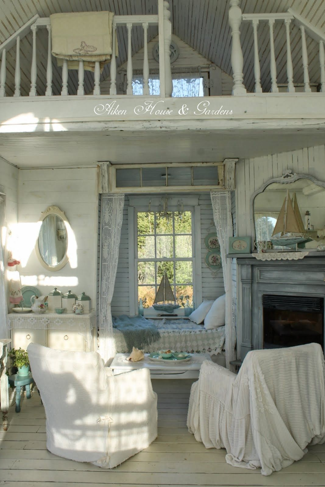 Aiken House & Gardens: The Boathouse....there's something about shabby chic...