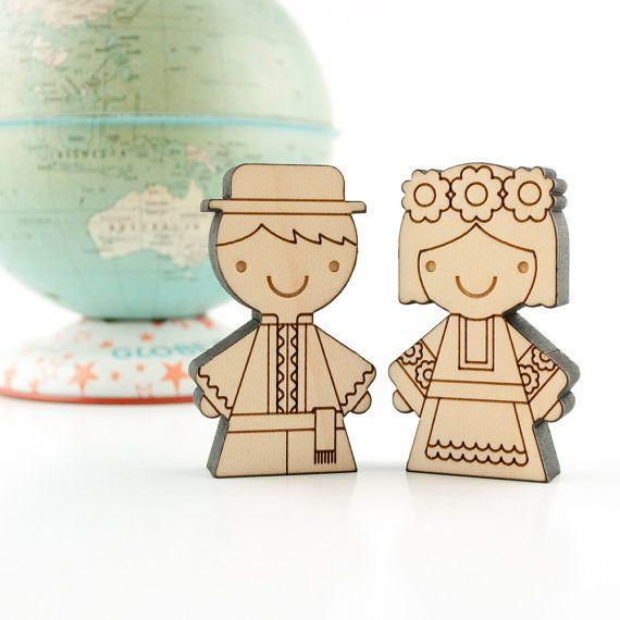 UKRAINE -Wood Dolls Children of the World Collection