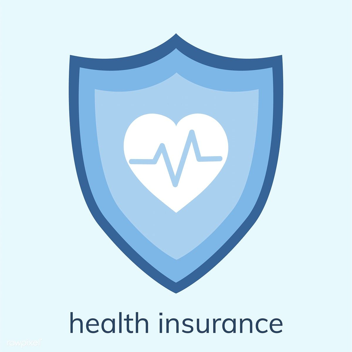 Illustration of a health insurance icon free image by