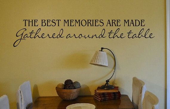 Kitchen Dining Room Wall Quote - Sign Vinyl Decal Sticker ...