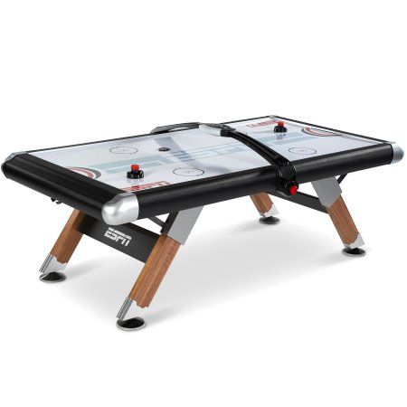 Espn Belham Collection 8 Ft. Air Powered Hockey Table With Overhead  Electronic Scorer And Table