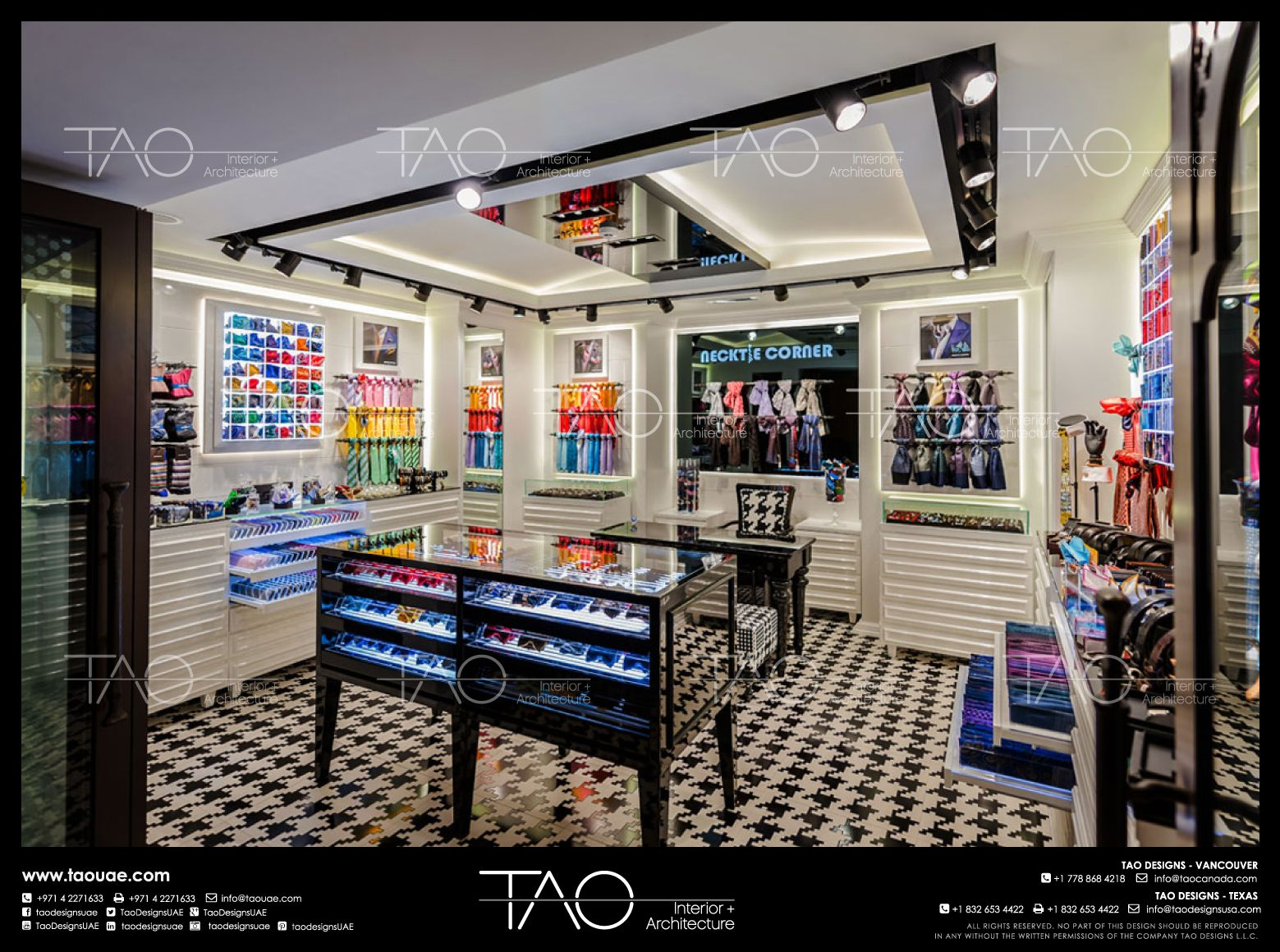 interiør shop Necktie Corner shop interior in Dubai Mall, Dubai UAE | By TAO  interiør shop