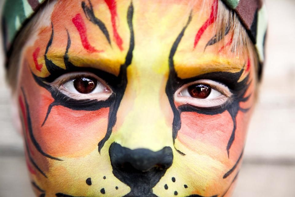Make Your Own Face Paint for Halloween Face and Holidays - face painting halloween ideas