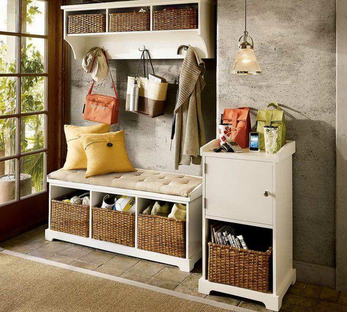 Le banc de rangement - un meuble fonctionnel qui personnalise le - Meuble Chaussure Avec Porte Manteau
