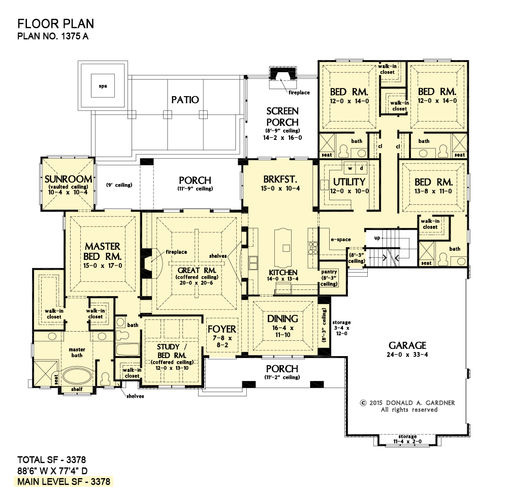 House Plans The Harrison Home Plan 1375