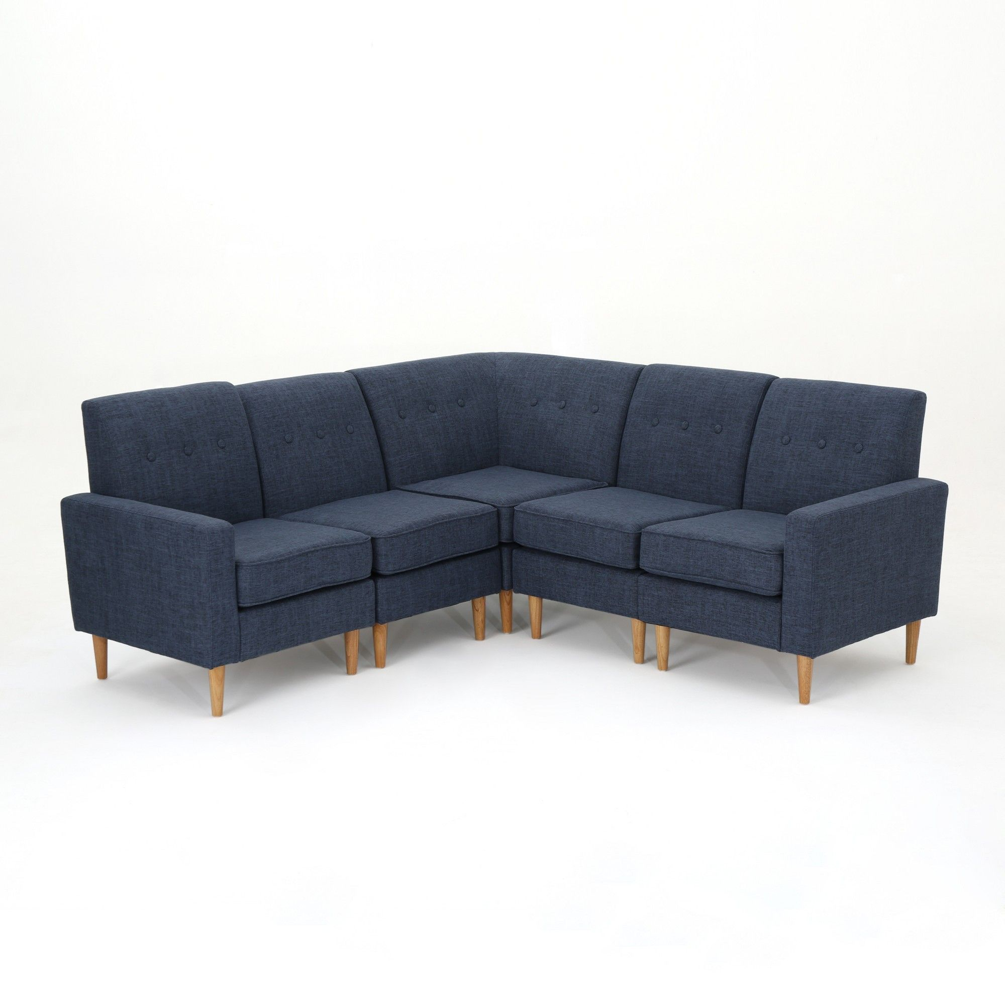Sofa Set Action 5pc Sawyer Sectional Sofa Set Dark Blue Christopher Knight Home