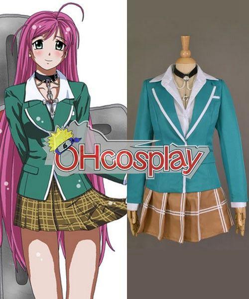 Rosario + Vampire Costumes Akashiya Moka School Uniform Cosplay Costume