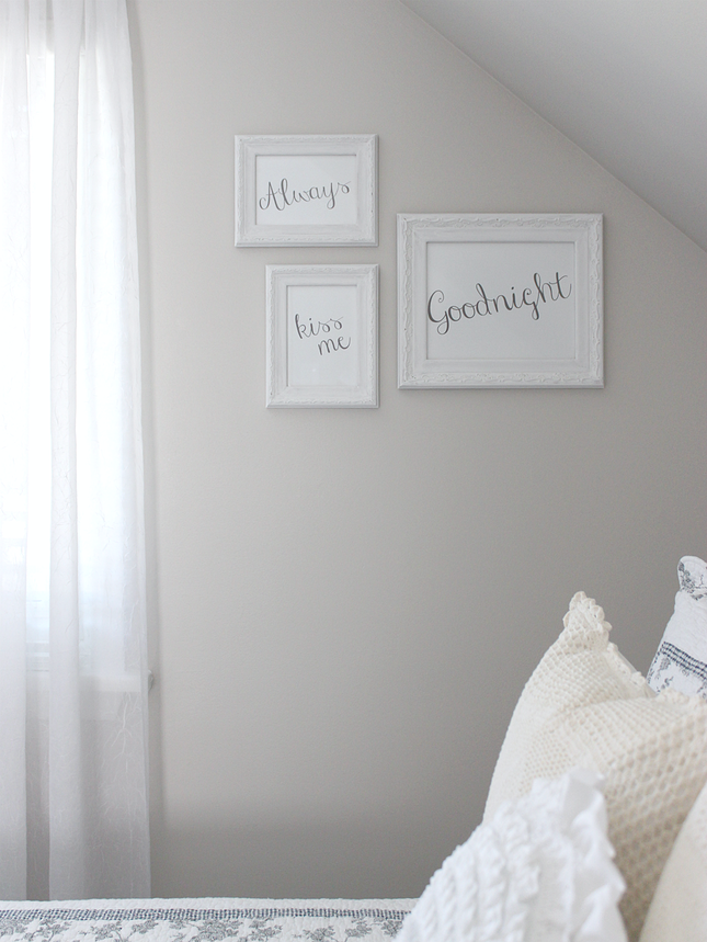 White House Crafts | CHALK PAINTED FRAMES & FREE WORD ART PRINTABLES