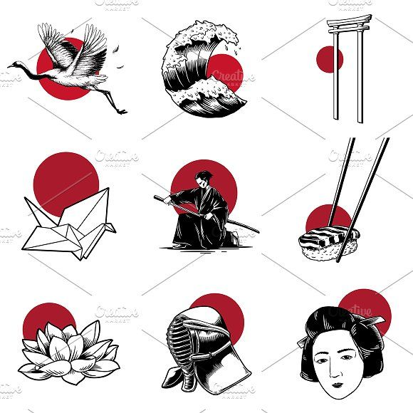 Japanese Tradition Style Vectors Japanese Tattoo Japanese Illustration Japanese Tattoo Art