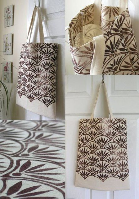Painting Fabric Bag Ideas 43  Ideas #fabricstamping