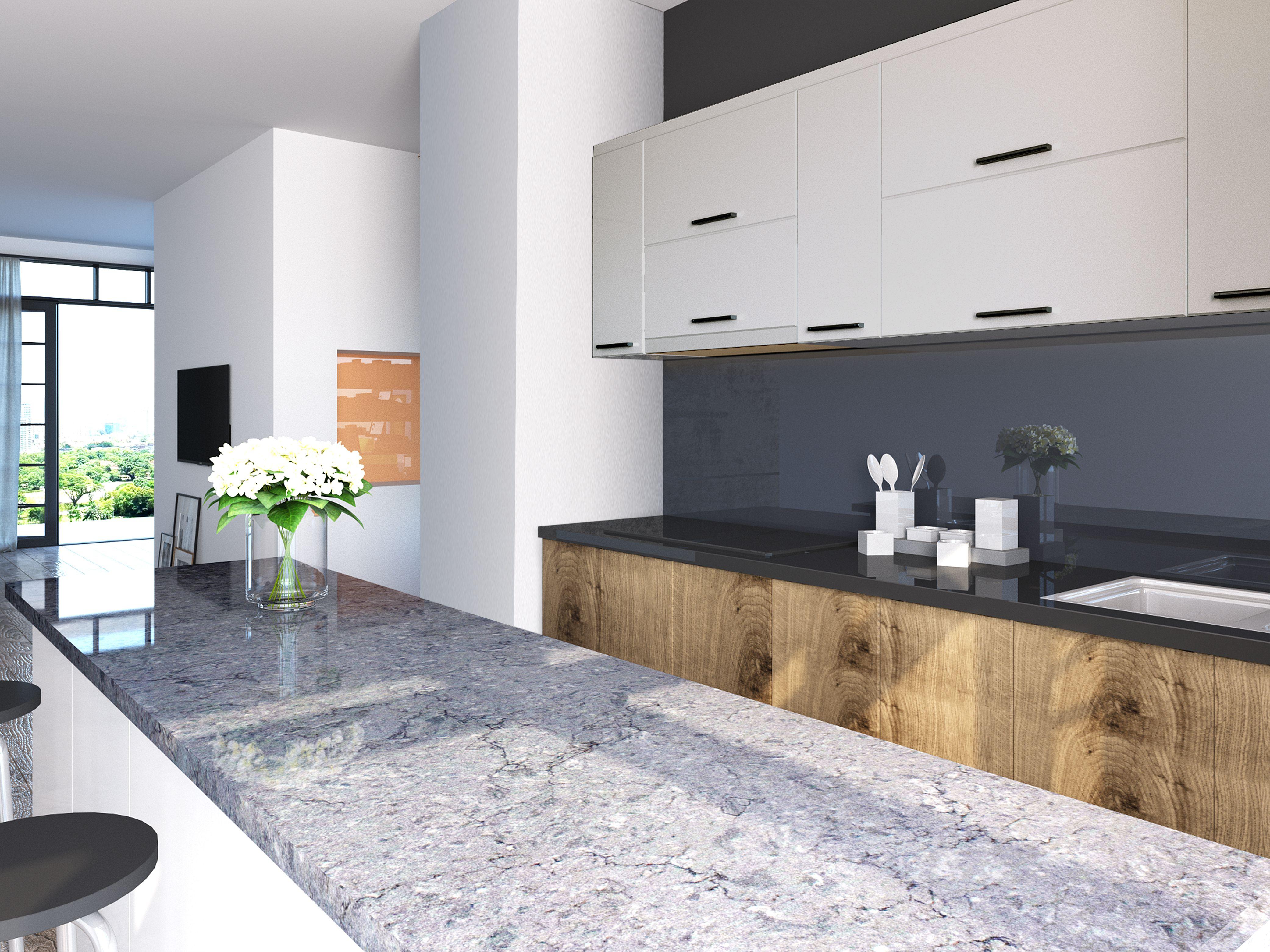BQ8816 - Blue Savoy #Vicostone #Quartz #Countertops #interiordesigns ...