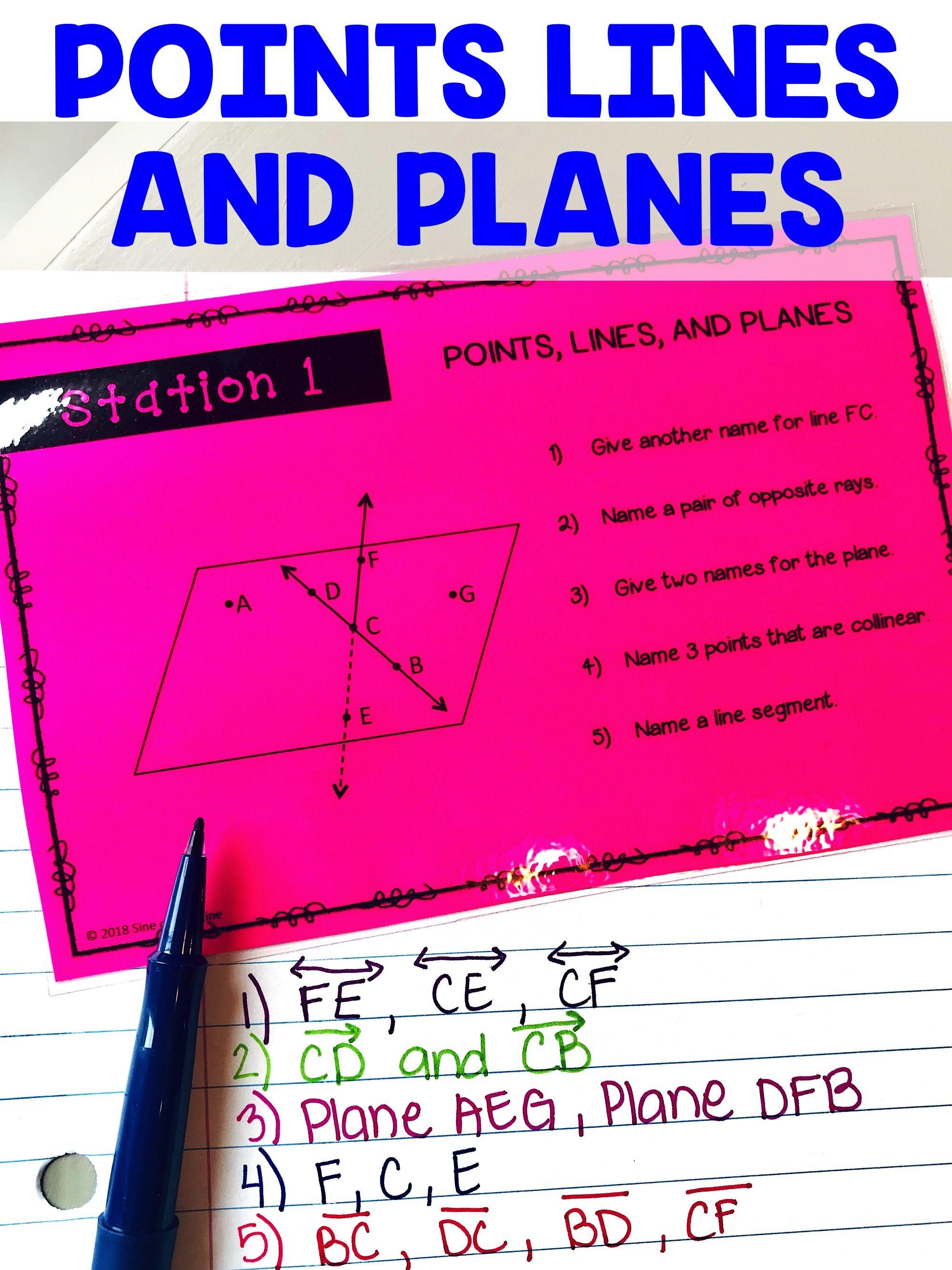 Geometry Basics Stations Activity