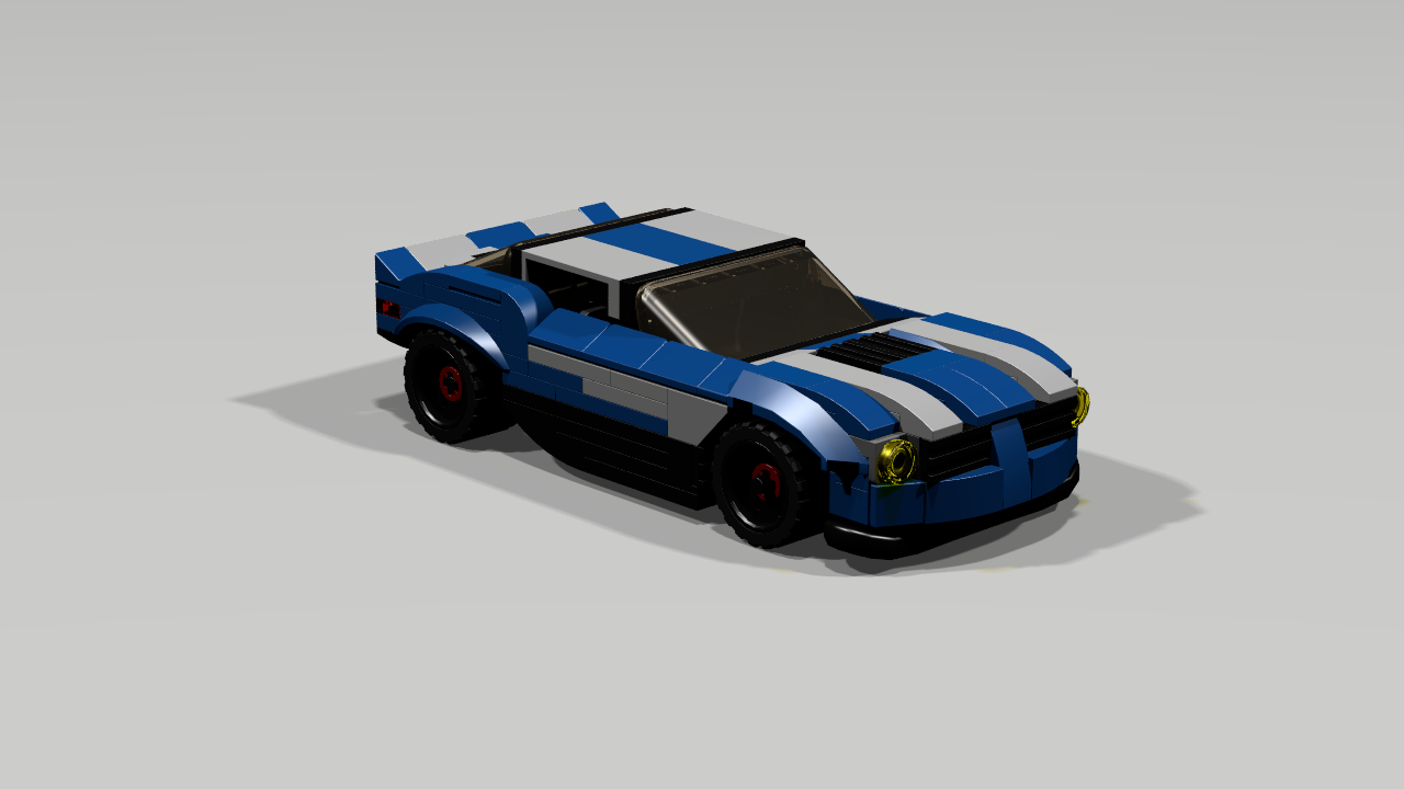 lego sports car moc moc blue sports car lego town