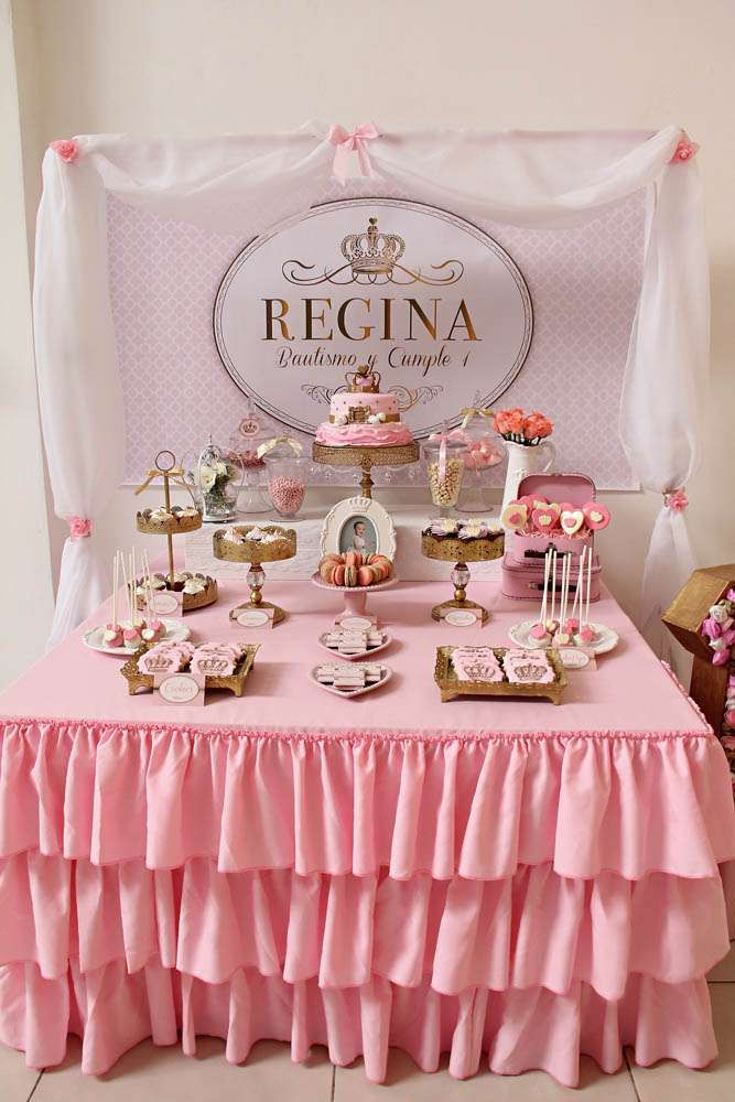 Queen Pink And Gold Birthday Party Ideas Pink Gold Party Gold Birthday Party Pink And Gold Birthday Party