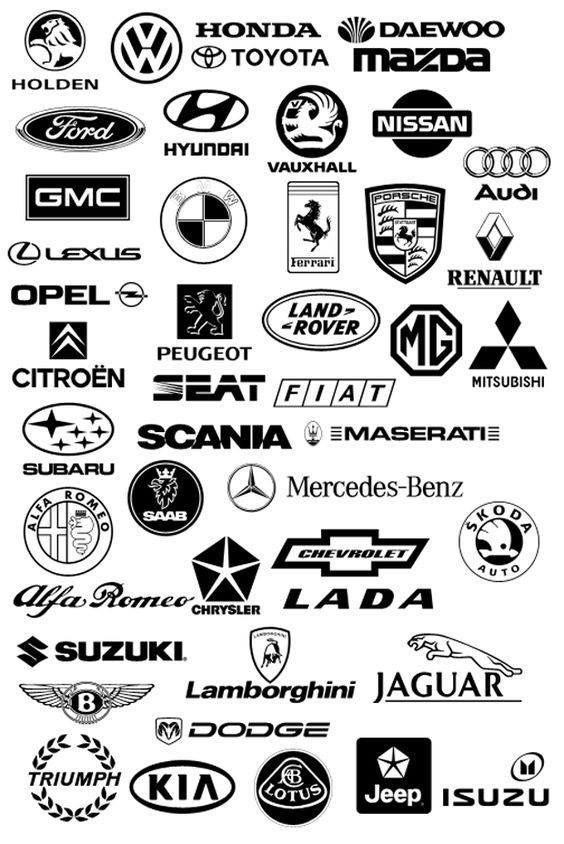 Autoerlebniswelt Tü Taunus Hier Eine Kleine Auswahl An Auto Marken Logos Logotipos De Marcas De Coches Vinilos Para Autos Stickers Para Autos