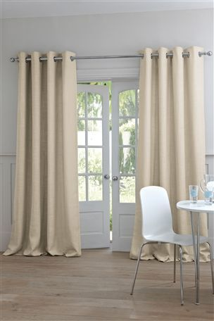 Buy Natural Woven Texture Eyelet Curtain From The Next Uk Online