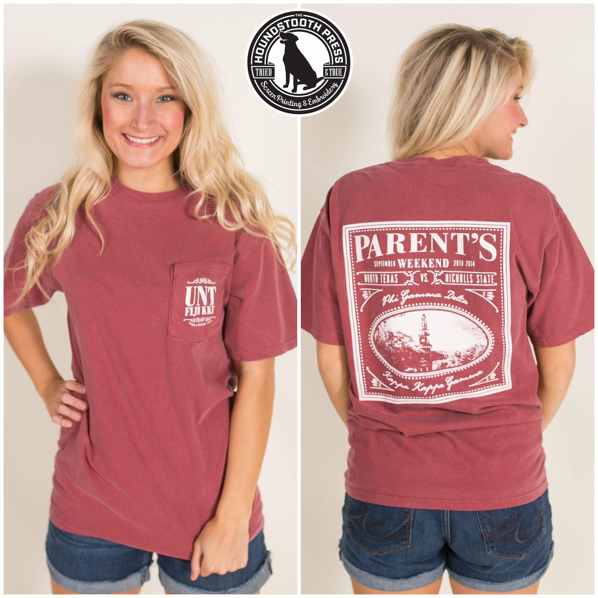 Design t shirt comfort colors - University Of North Texas Fiji Parent S Weekend T Shirt Comfort Colors Crimson