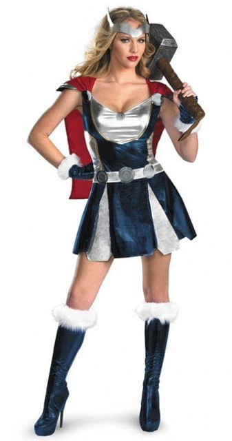 new sexy thor girl costume femmes halloween superman. Black Bedroom Furniture Sets. Home Design Ideas