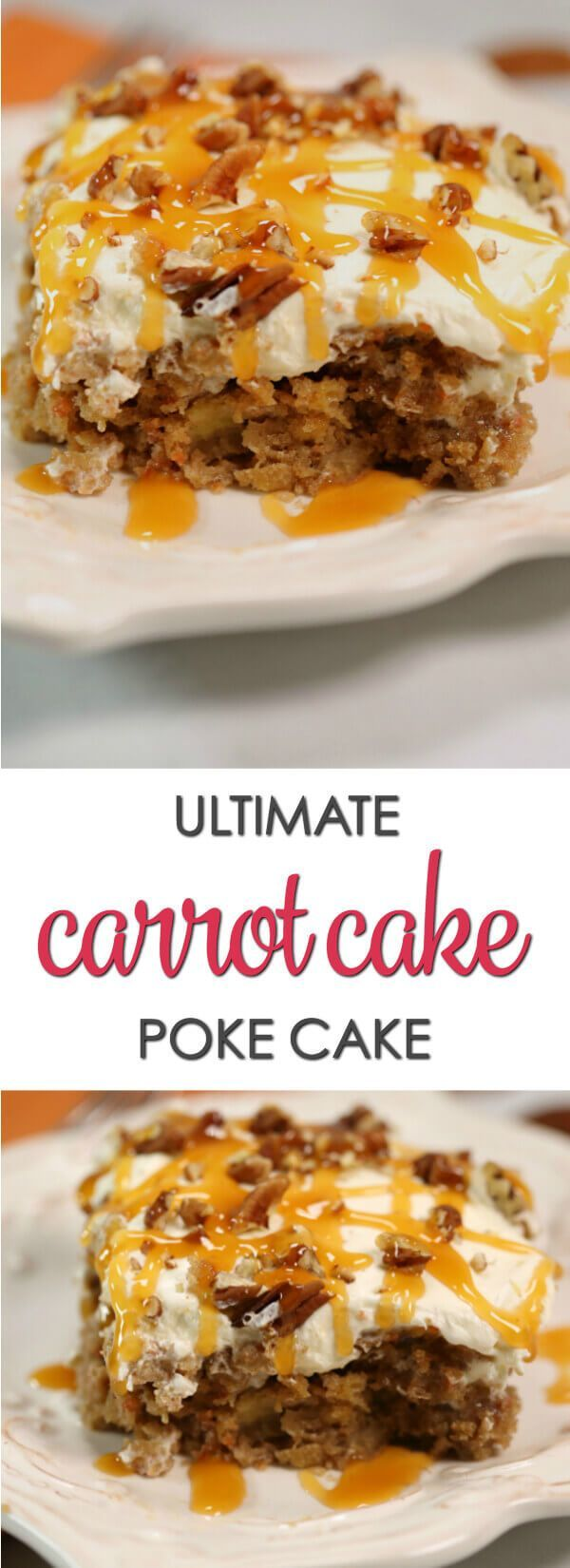 This Ultimate Carrot Cake Poke Cake is one of my favorite easy poke cake recipes. It's decadent, delicious and very easy to make. Ultimate Carrot Cake Poke Cake is one of my favorite easy poke cake recipes. It's decadent, delicious and very easy to make.