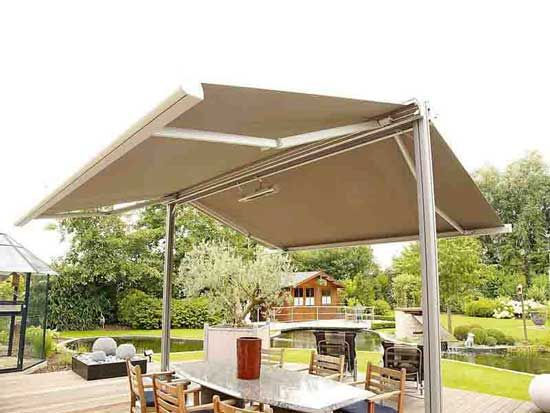 The Double Side Retractable Awning Can Be Used For Both Domestic As Well As Commercial Purposes Call Us At 91 Retractable Awning Retractable Pergola Awning