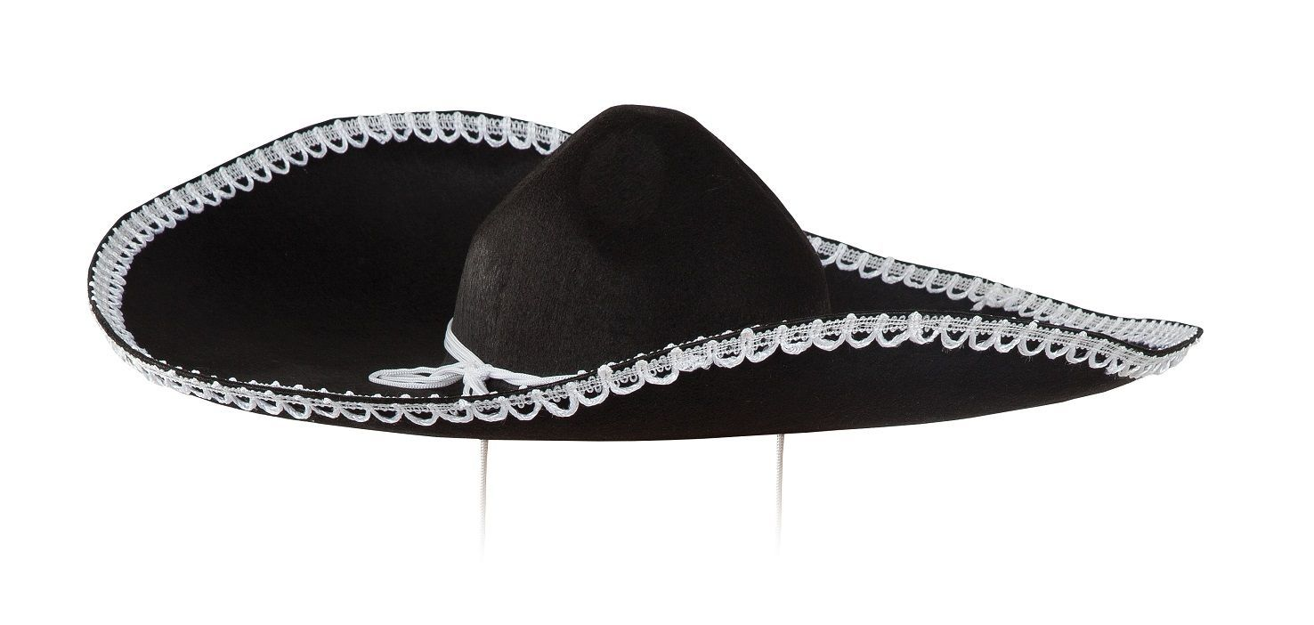 Sombrero Charro mejicano de fieltro negro  f95b3aaf061