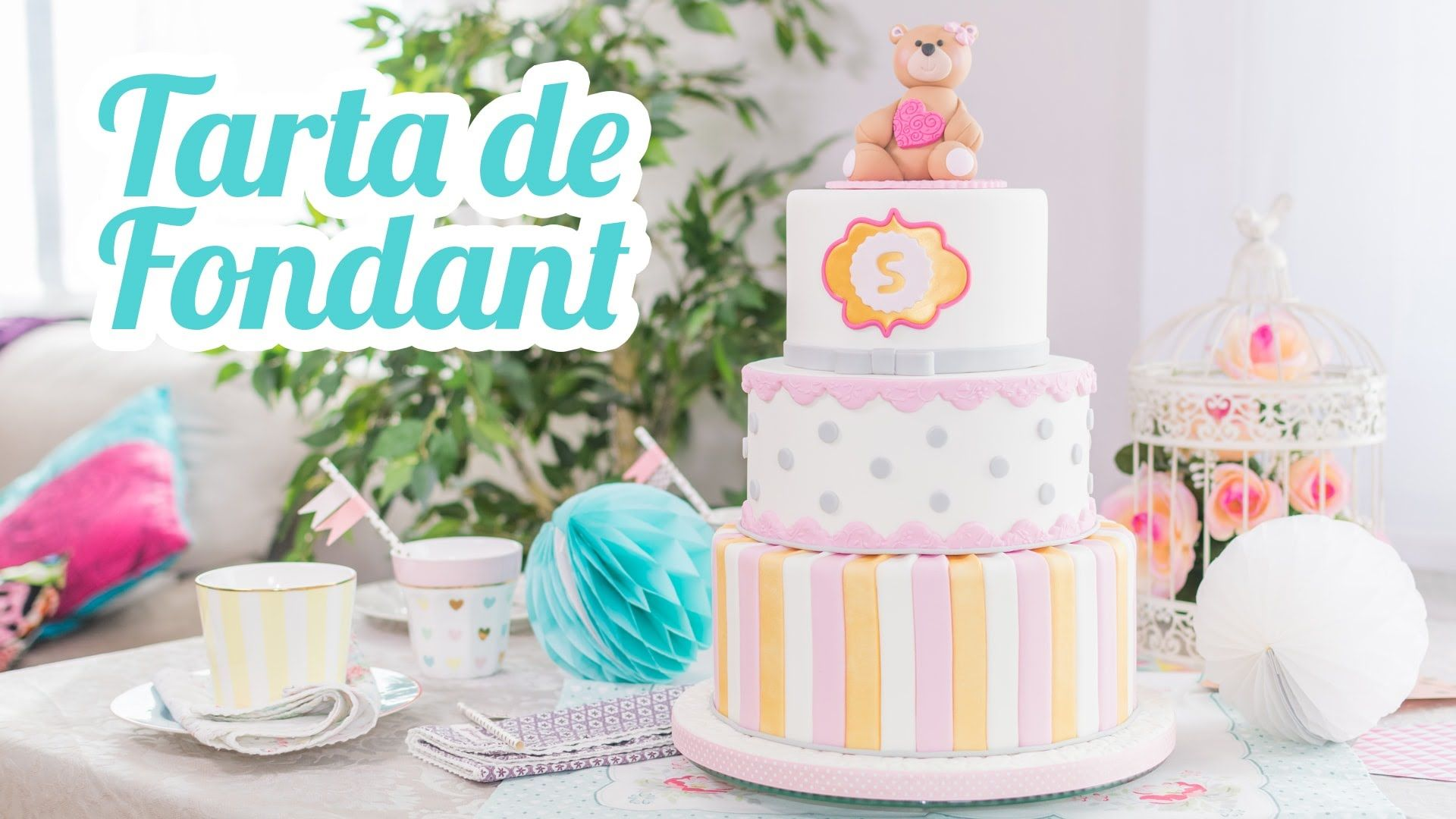 Video c³mo decorar una Tarta con de fondant Mesa para Baby