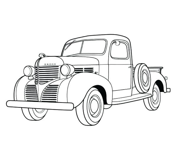 Old Truck Coloring Pages Dodge Pickup Old Car Coloring Pages Semi