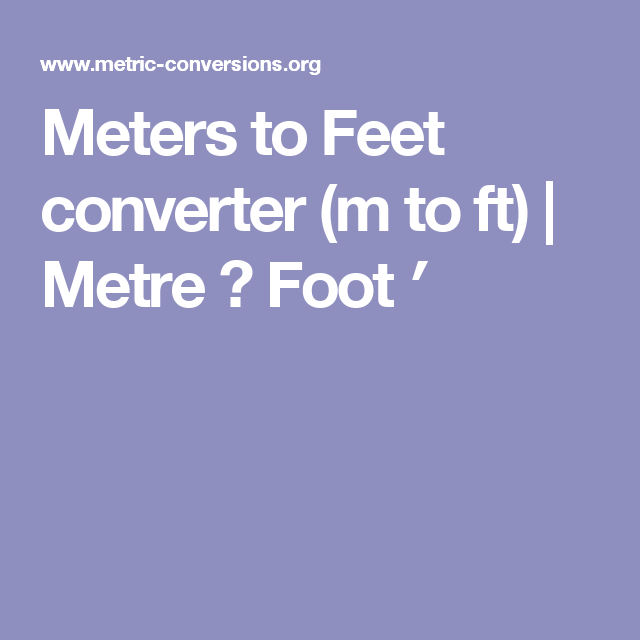 ft to m converter