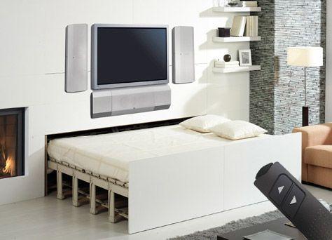Simple BELITEC Schrankbett das raumsparende Verwandlungsbett das Bett im Schrank