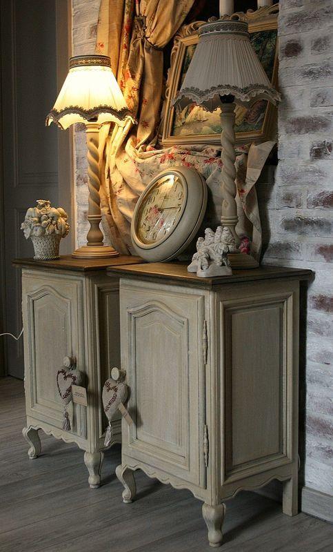 Meuble peint plateau couleur bois pinteres for Meuble bois peint