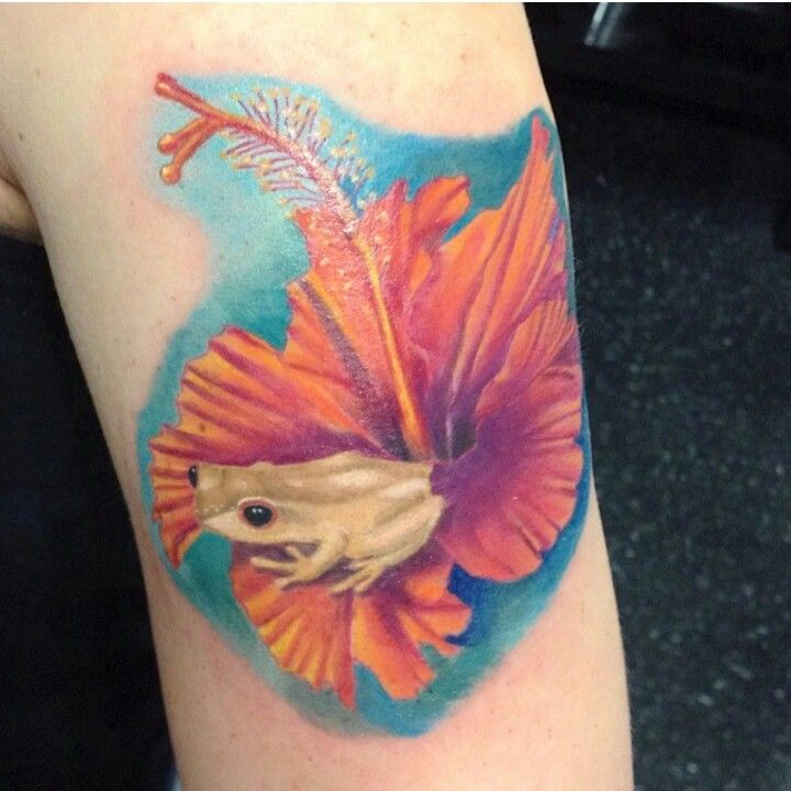 Puerto rican hibiscus flower and coqui frog tattoos for Henna tattoo in puerto rico