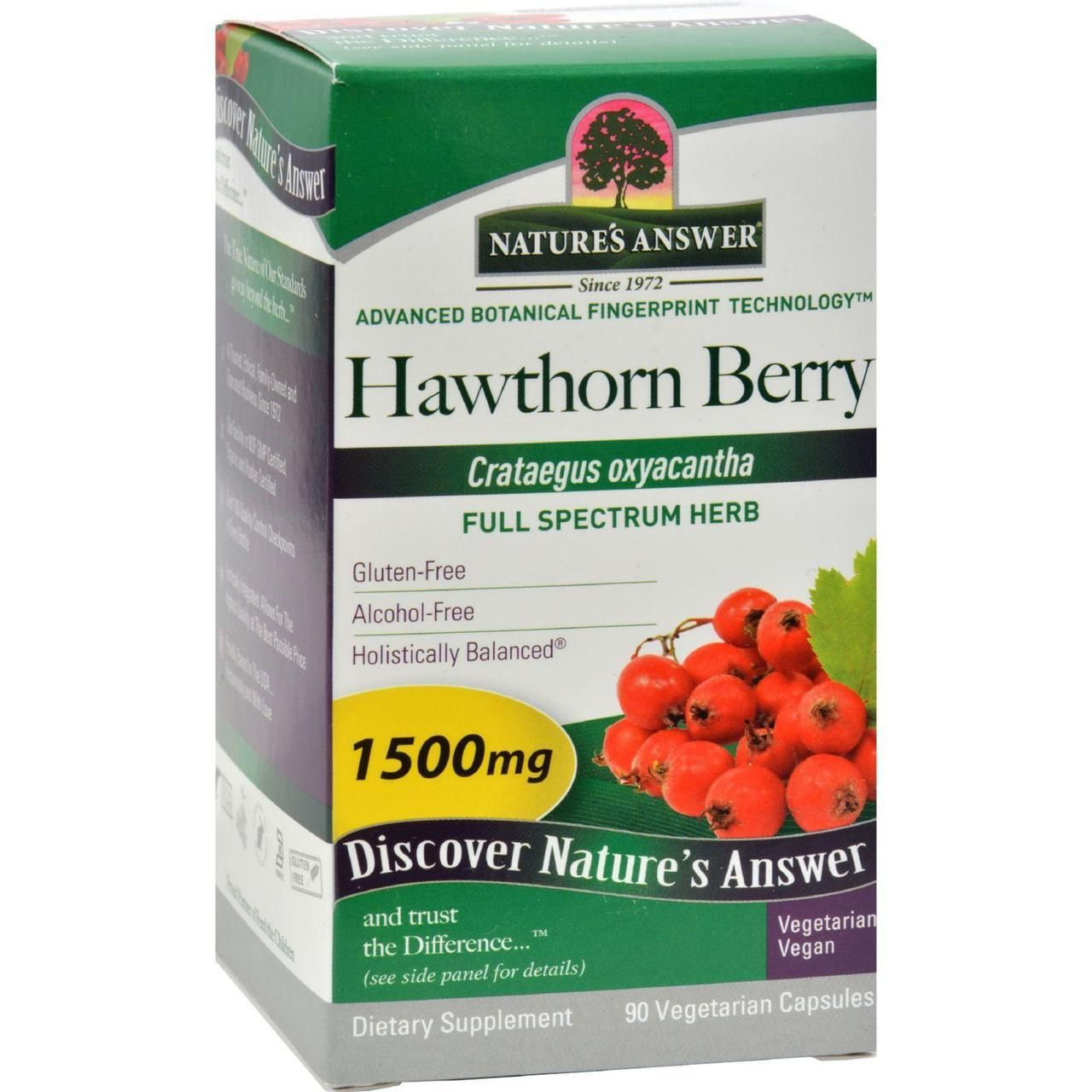 Nature S Answer Hawthorn Berry 90 Vegetarian Capsules Love Sunplum Organic Hawthorn Berry Gluten Free Alcohol Vegetarian