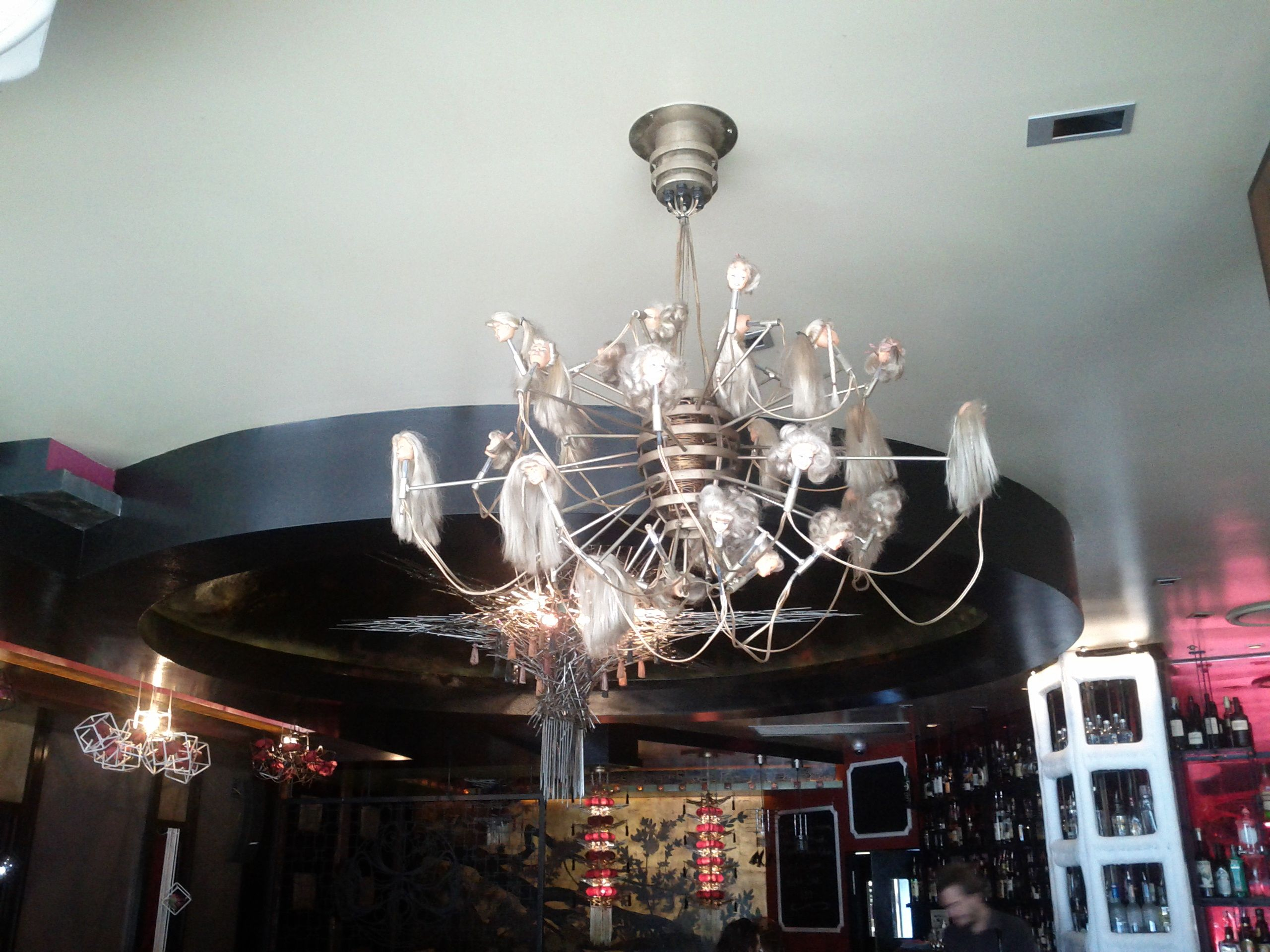 A doll head chandelier spotted in a bar in west end brisbane a doll head chandelier spotted in a bar in west end brisbane arubaitofo Gallery